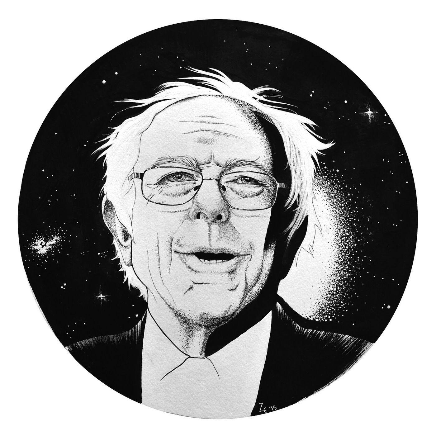 "Zoetica Ebb ""Bernie Stardust"" (2016) (image courtesy of Bernie 2016)"