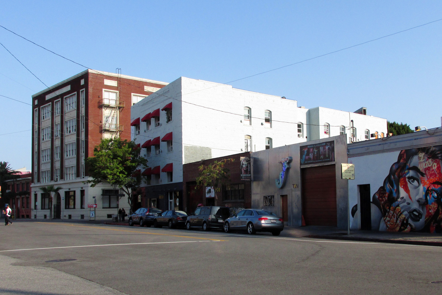 """The American Hotel in the Downtown Los Angeles Arts District, the future site of """"The Return of Ed Ruscha"""" (photo by Helen Ly for viewfromaloft)"""