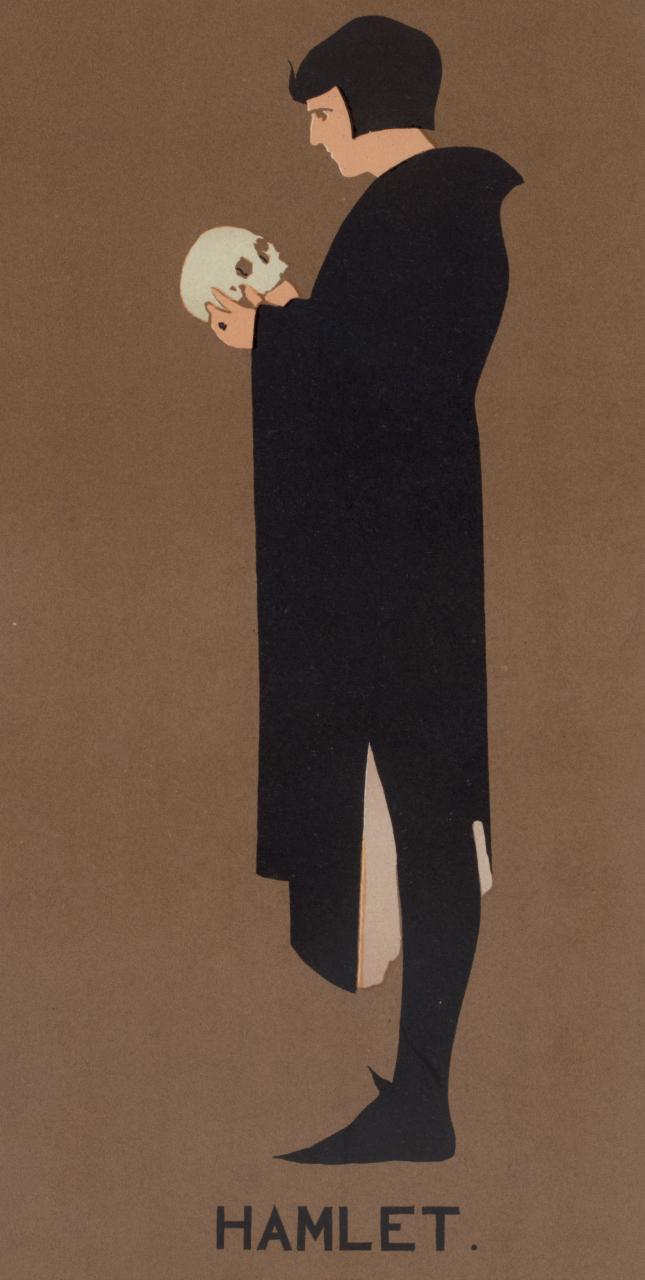 James Pryde, poster for 'Hamlet' (1896-1900) (via New York Public Library)