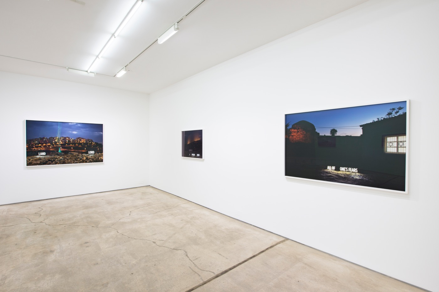 Shimon Attie, Facts on the Ground (2016) installation view. Courtesy of the artist and Jack Shainman Gallery