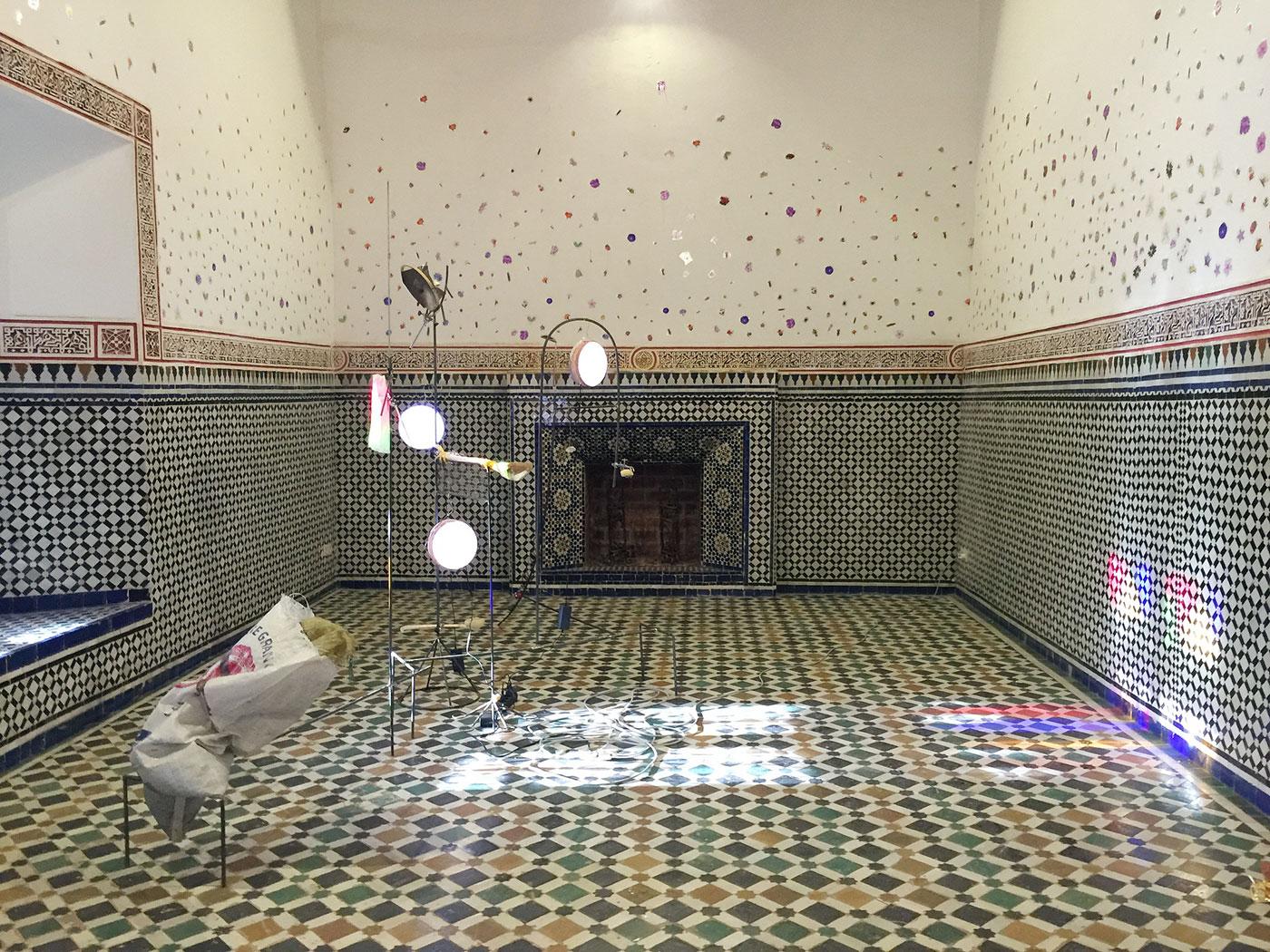 Part of Dineo Seshee Bopape's installation at Bahia Palace.