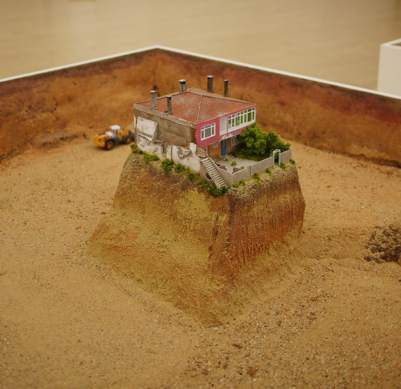 """Ahmed Ögüt, """"Pleasure Places of All Kinds"""" (2014), model of a nail house in the Flikirtep Quarter of Istanbul."""