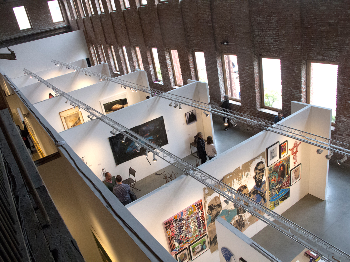The 2016 edition of 1:54 Contemporary African Art Fair at Pioneer Works (photo by the author for Hyperallergic)