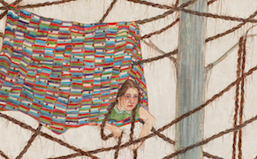 "Amy Cutler, ""Celeste"" (2016), gouache on Japan paper, 13 x 10 1/2 in"