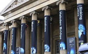Post image for Greenpeace Activists Climb the British Museum to Protest BP Sponsorship