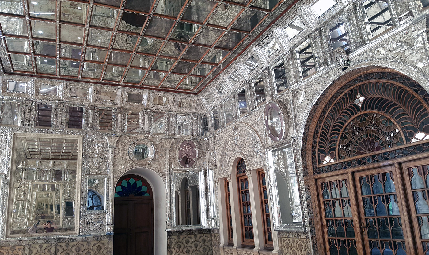 The mirrored decorations of Golestan Palace, Tehran.