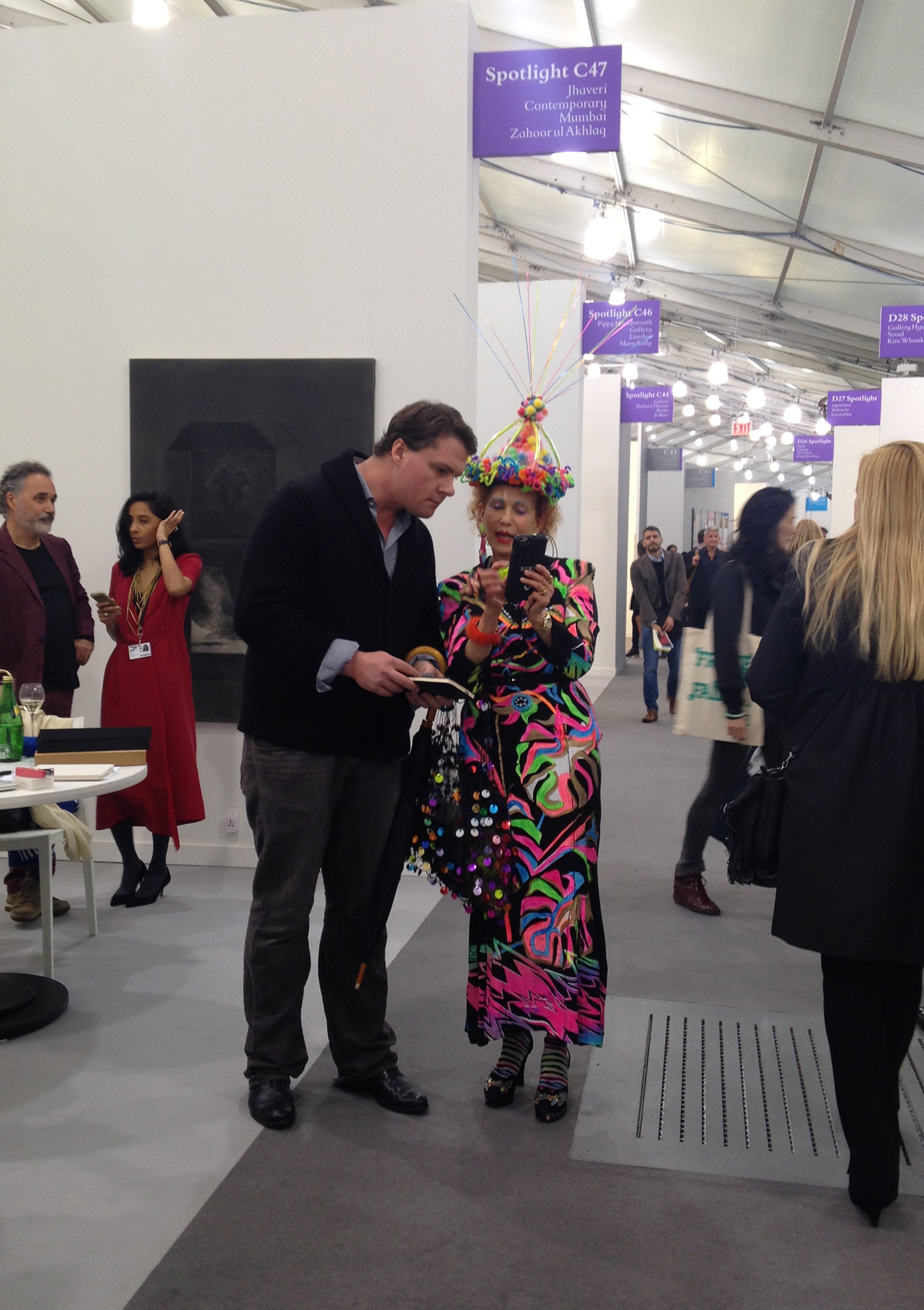 The best outfit at Frieze New York?