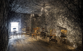 Post image for A Three-Story Web Ensnares an Abandoned Building's Past Lives