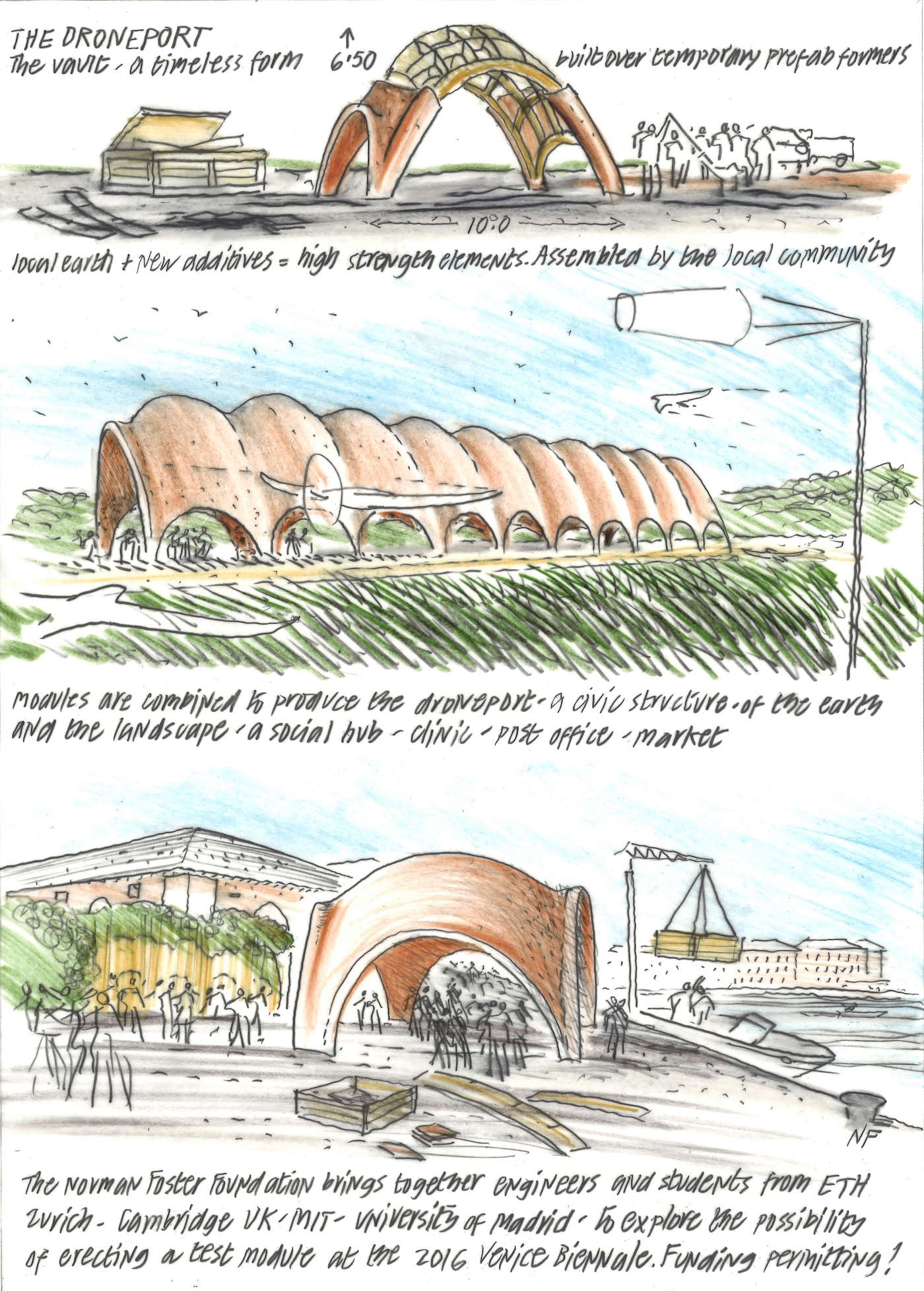Norman Foster Concept Sketch 2