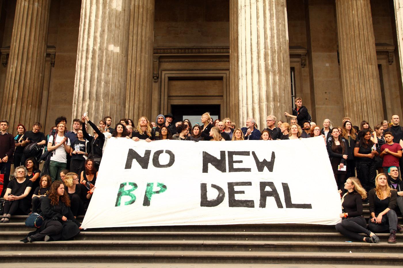 BP protestors outside the British Museum last year (photo by Natasha Quarmby)