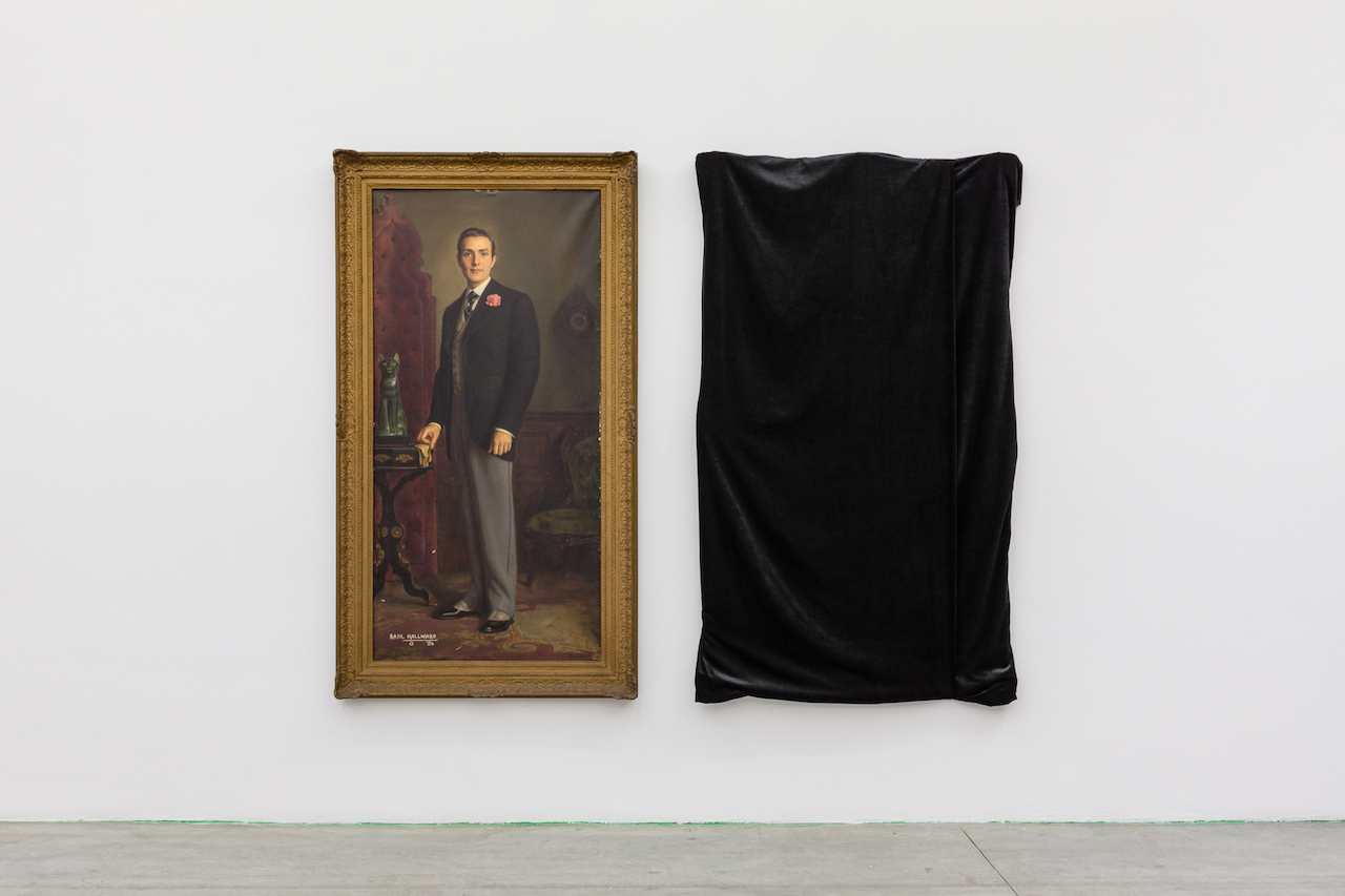 """Henrique Medina, """"Portrait of Hurd Hatfield as Dorian Gray"""" (1945, left) and Cindy Sherman, """"The Evil Twin"""" (2016, right)"""