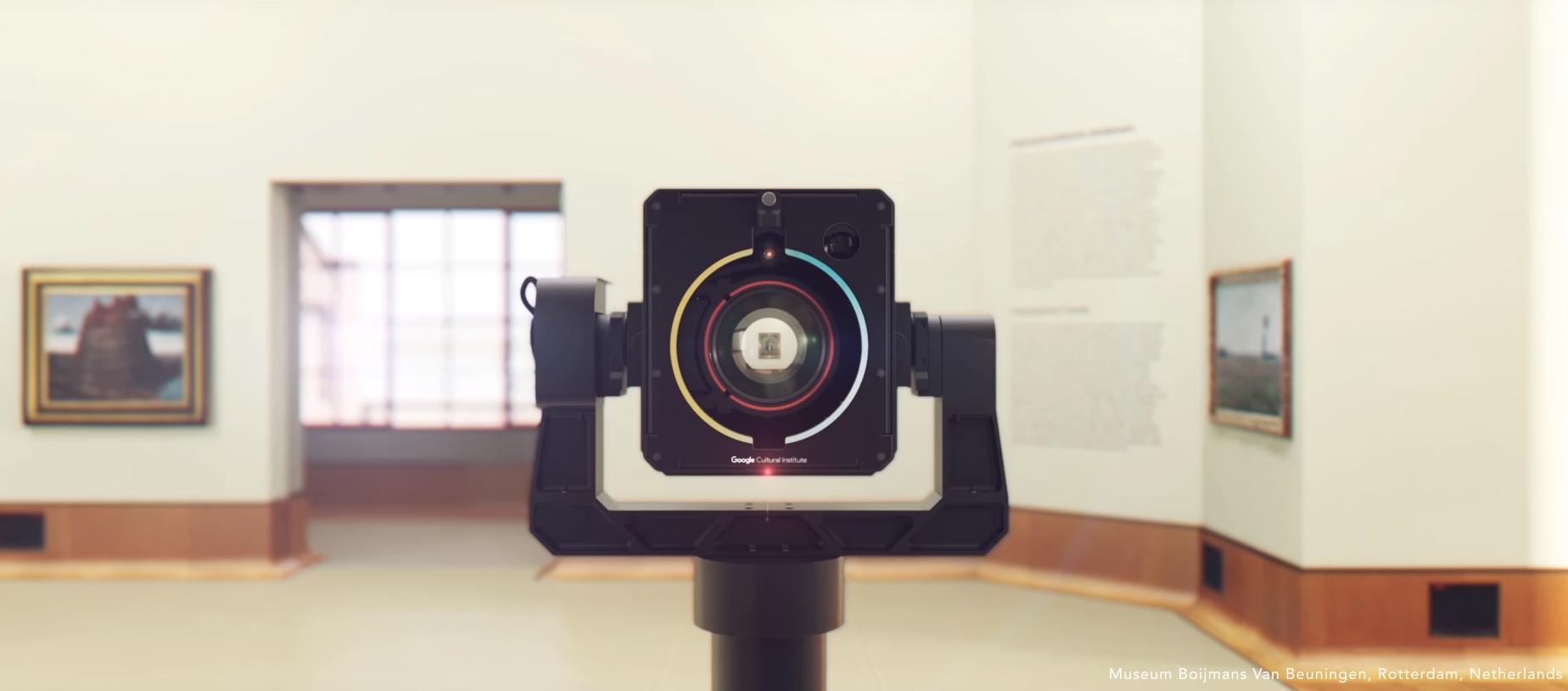 The Google Art Camera (screenshot via YouTube)