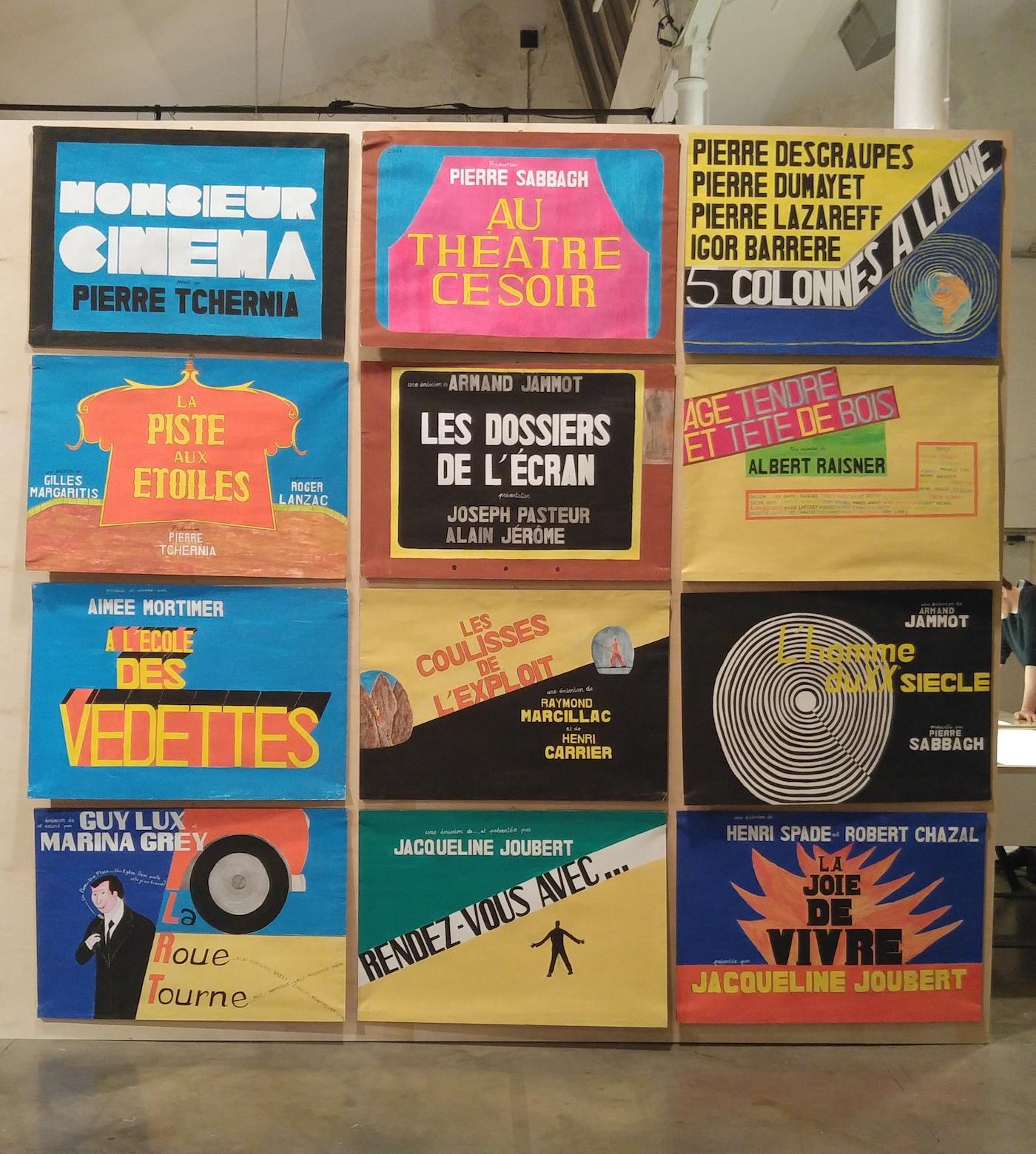 A selection of Guy Brunet's hand-painted film posters in 'Guy Brunet Réalisateur : Le Studio Paravision' at Lieu Unique