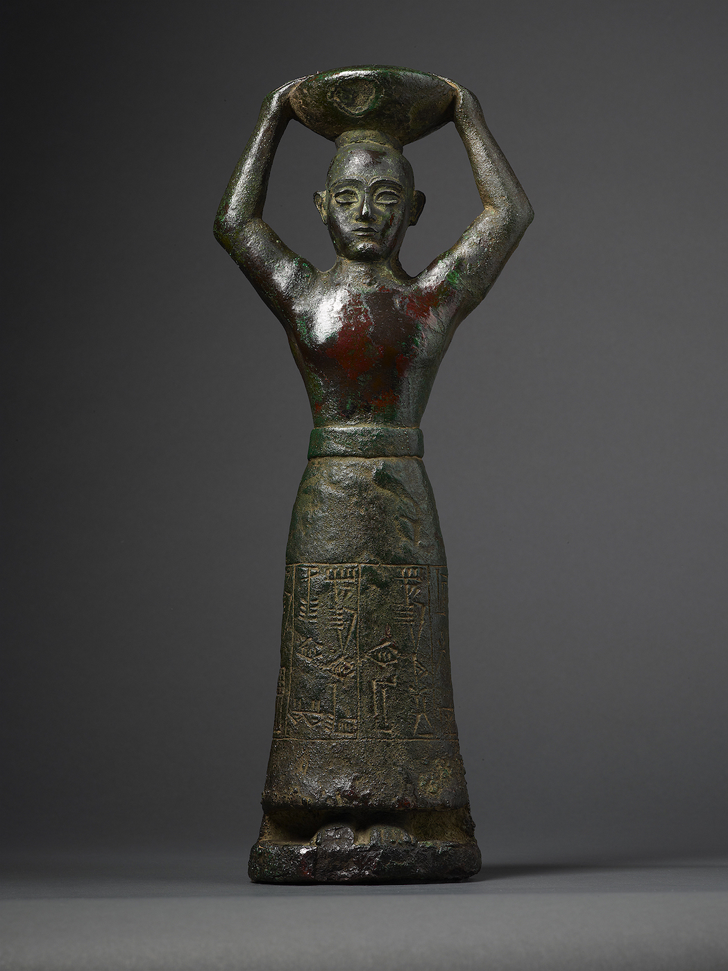 """Foundation figure of King Ur-Namma (Neo-Sumerian, Ur III period, reign of Ur-Namma, 2112–2094 BCE), copper alloy. Inscribed in Sumerian: """"Ur-Namma, King of Ur, King of Sumer and Akkad, who built the temple of Enlil"""" (courtesy the Morgan Library & Museum)"""