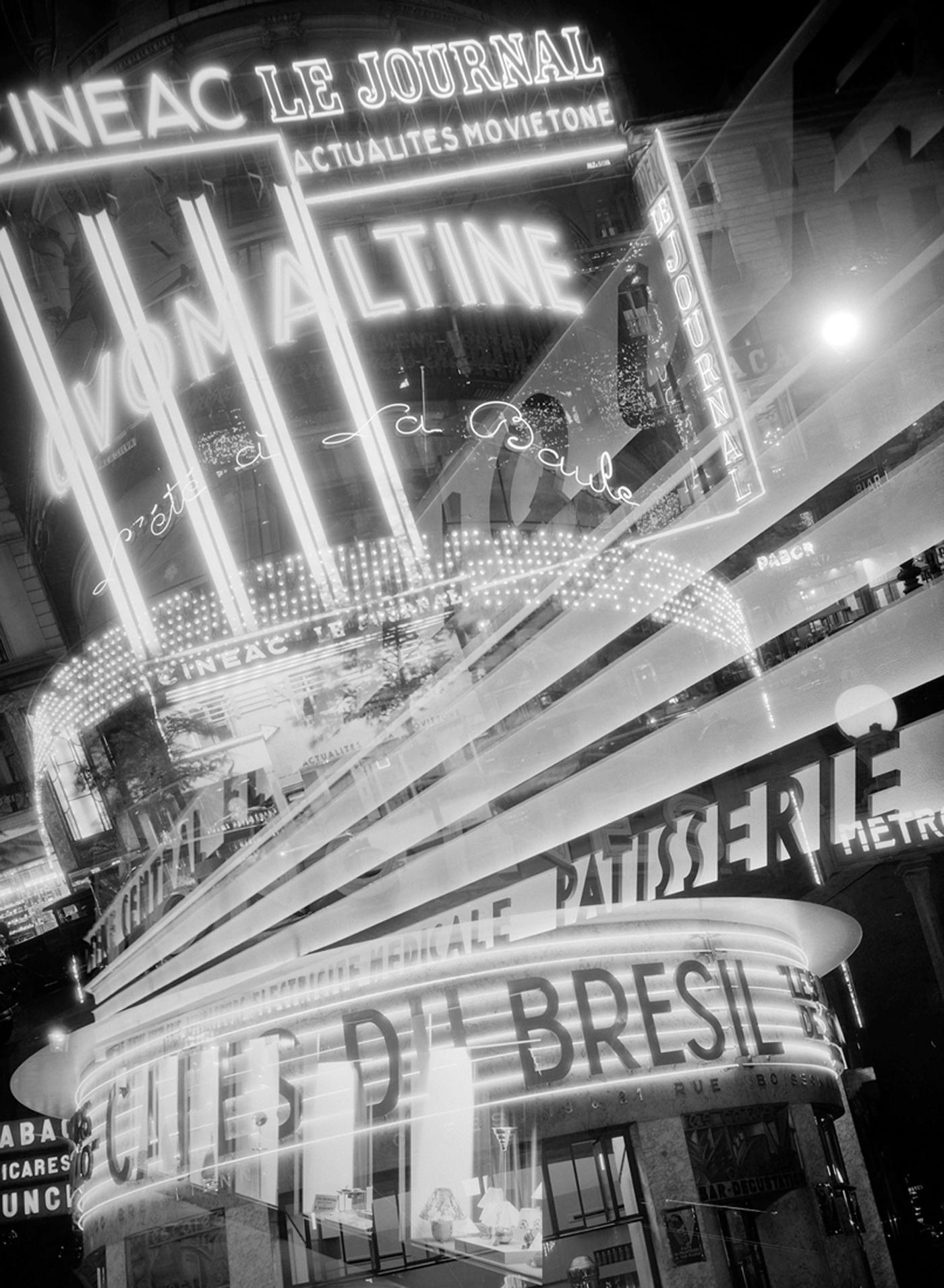 """François Kollar, """"Aux sources de l'énergie. Enseignes lumineuses. Paris"""" (1931), 13 x 18 cm (Paris, Bibliothèque Forney; © François Kollar / Bibliothèque Forney / Roger-Viollet)"""