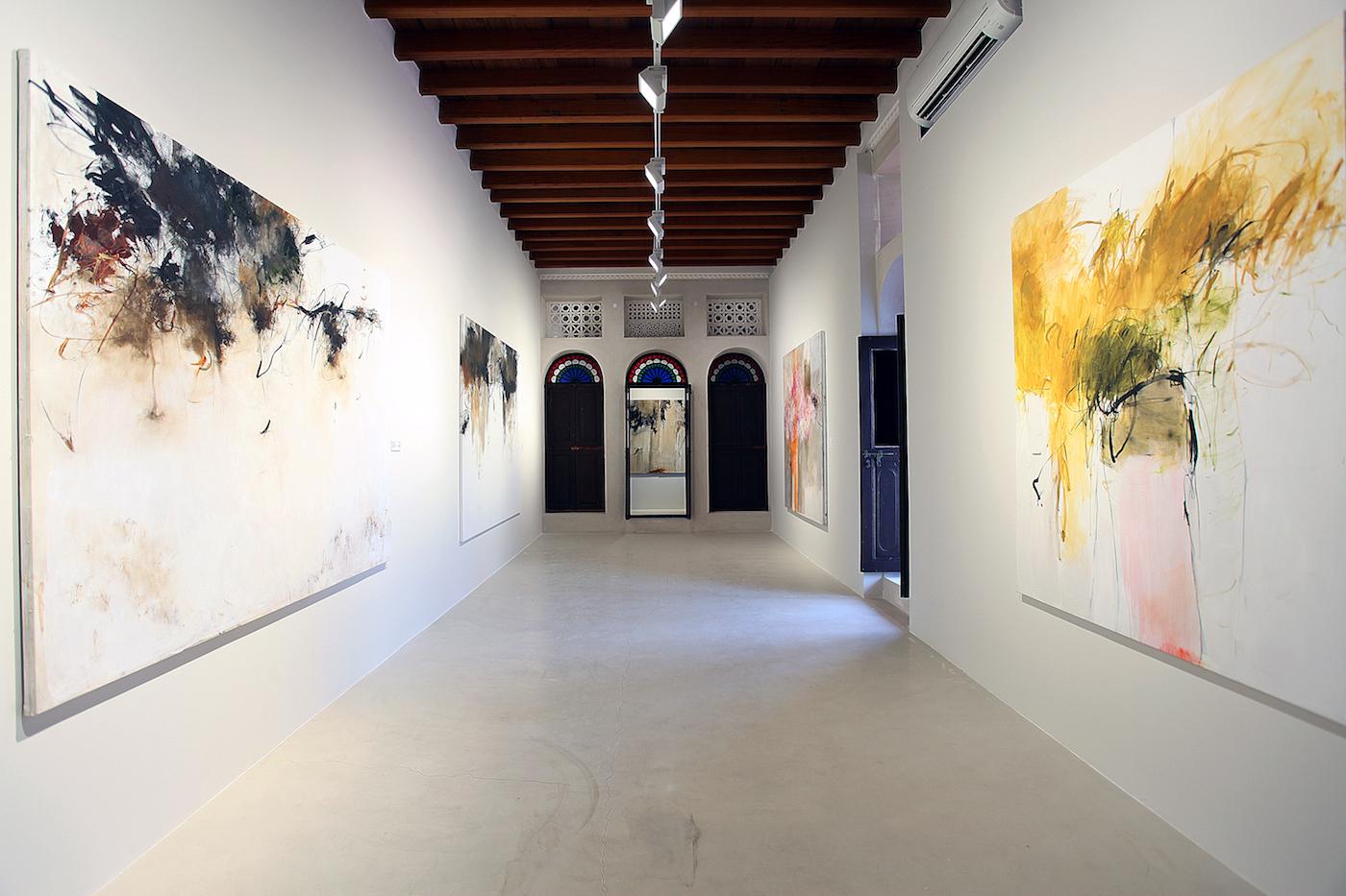 Installation view of 'Farideh Lashai' at Bait Al Serkal (image courtesy Sharjah Art Foundation)