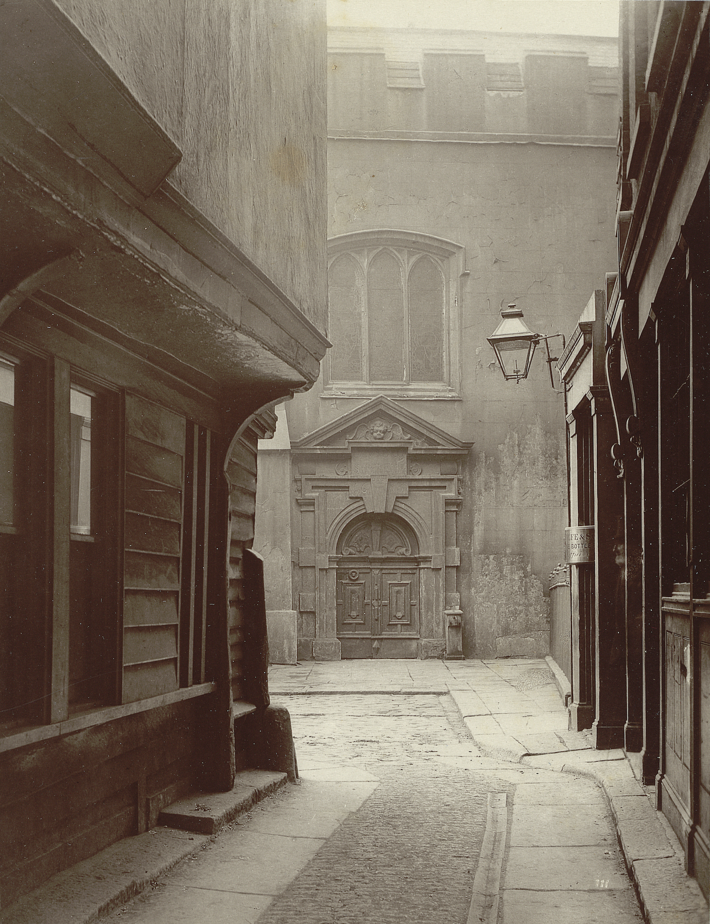 """Henry and Thomas James Dixon, no. 111, """"Great St. Helen's"""" (1886), carbon print mounted on card, from 'Relics of Old London' (Society for Photographing Relics of Old London, 1875–1886, Yale Center for British Art, Paul Mellon Collection)"""