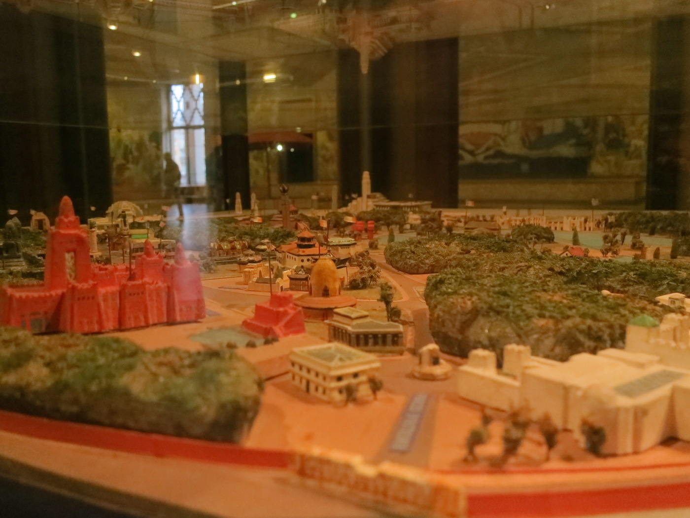 Scale model of the Paris Colonial Exposition of 1931 at the National Museum of the History of Immigration (photo by the author for Hyperallergic)