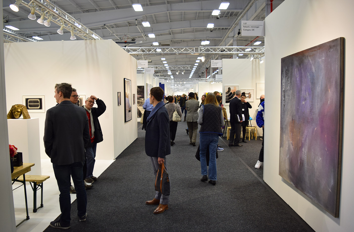Visitors at NADA New York 2016 (all photos by the author for Hyperallergic)
