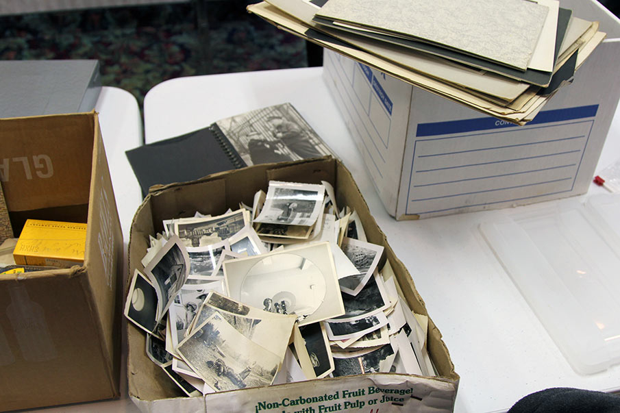 A box of Vivian Maier's lifetime prints (photo courtesy John Maloof, via vivianmaier.com)