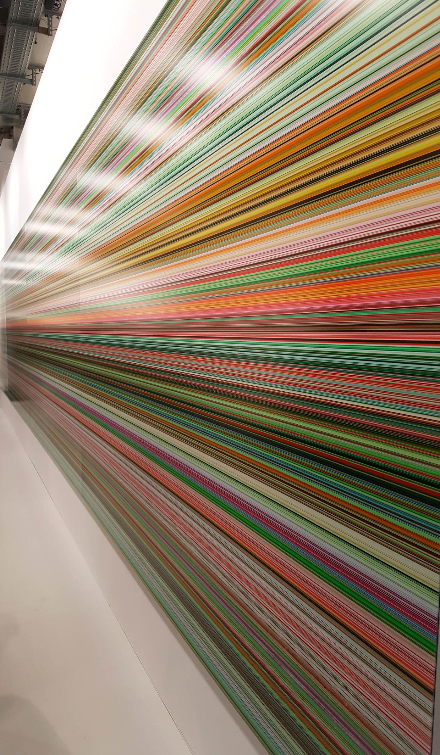 """Closeup of Gerhard Richter, """"930-7 Strip"""" (2015), presented by Marian Goodman"""