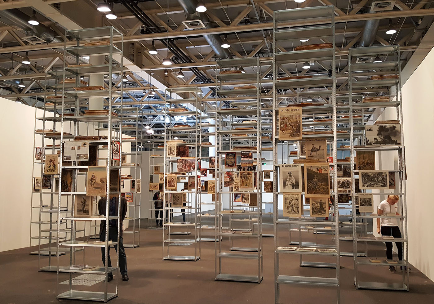 An installation by Kader Attia, presented by Lehmann Maupin and Galerie Nagel Draxler (all photos by the author for Hyperallergic)