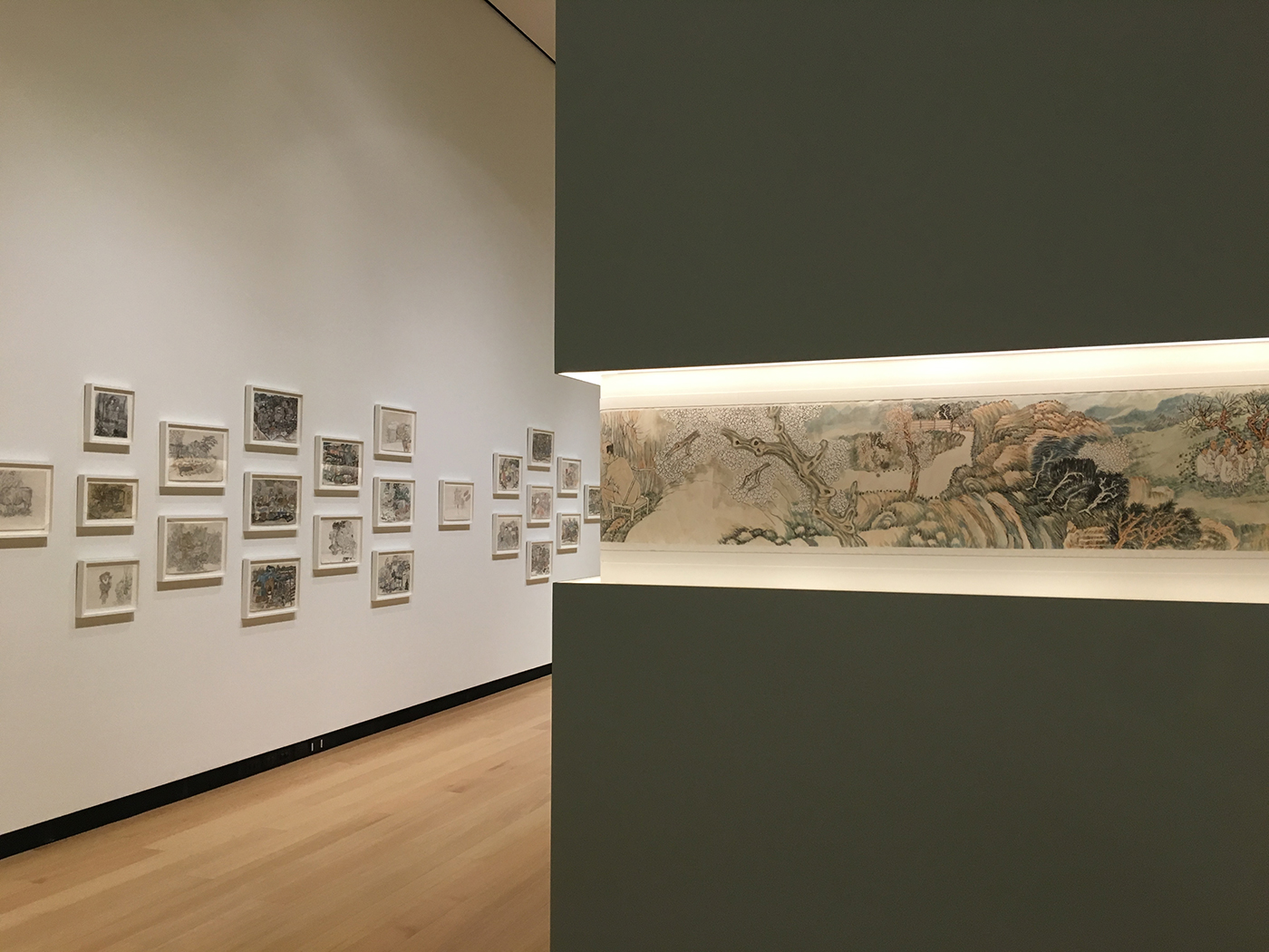 Installation view, 'Yun-Fei Ji: The Intimate Universe' at the Wellin Museum of Art (photo by the author for Hyperallergic) (click to enlarge)