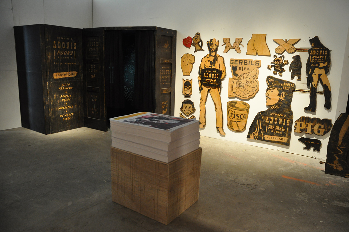"An installation view of the New York version of ""Remembering the Upstairs Lounge"" (2008)"