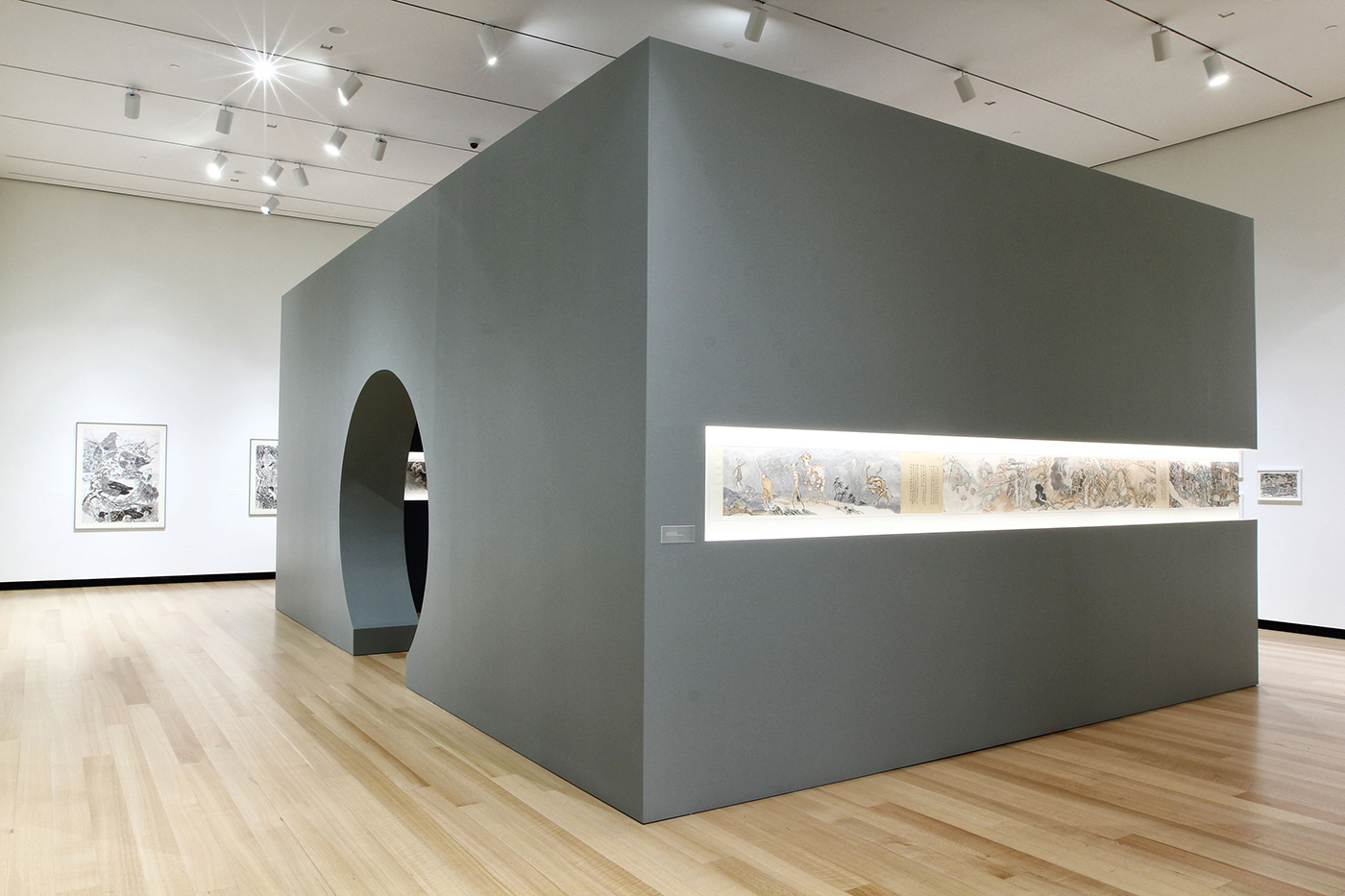 Installation view, 'Yun-Fei Ji: The Intimate Universe' at the Ruth and Elmer Wellin Museum of Art (photo by John Bentham, courtesy the Ruth and Elmer Wellin Museum of Art at Hamilton College) (click to enlarge)