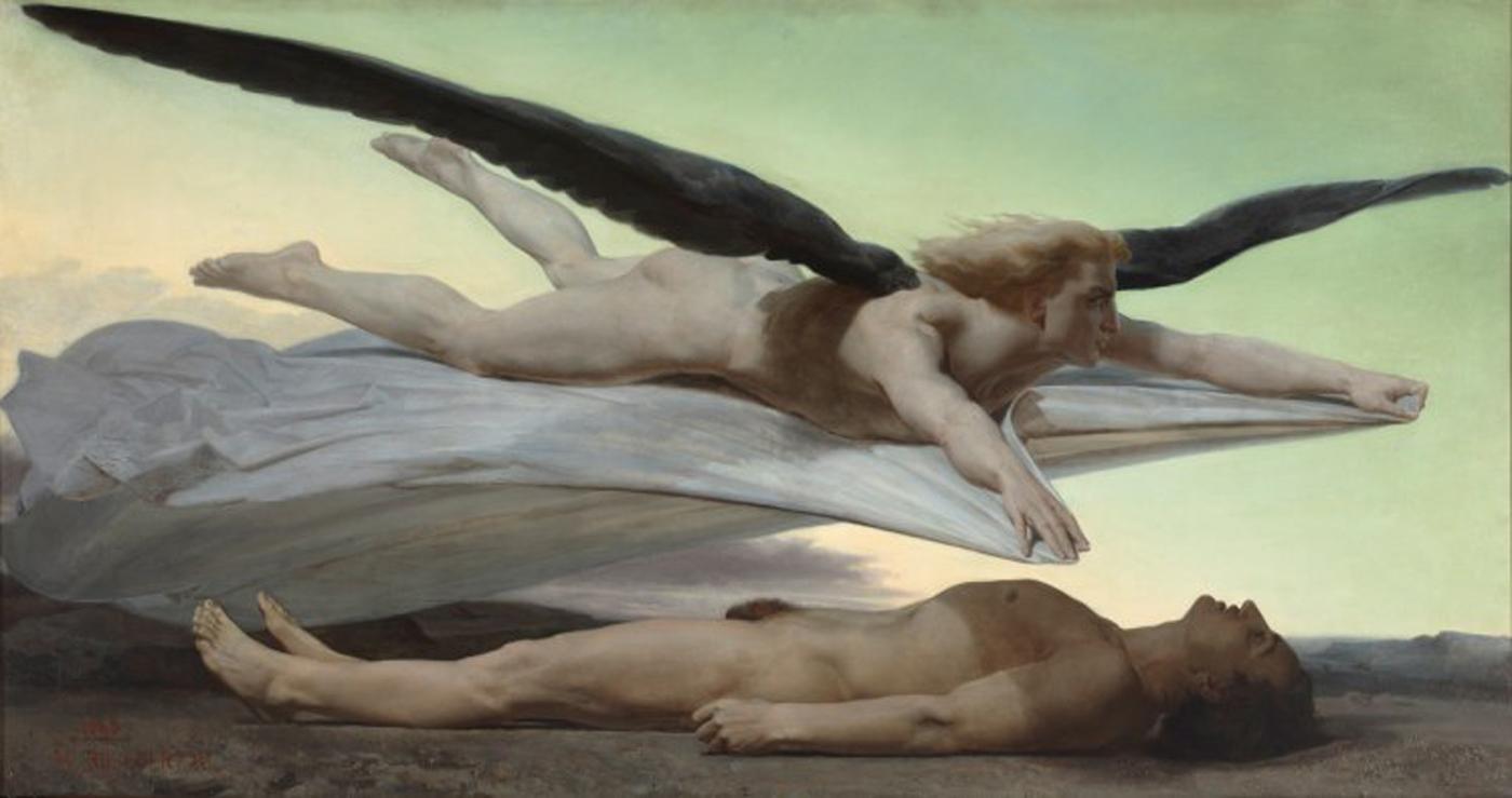 "Adolphe William Bouguereau, ""Equality before Death"" (1848), oil on canvas (Paris, musée d'Orsay, dation, RF 2010 7 © Musée d'Orsay, dist RMN-Grand Palais / Patrice Schmidt)"