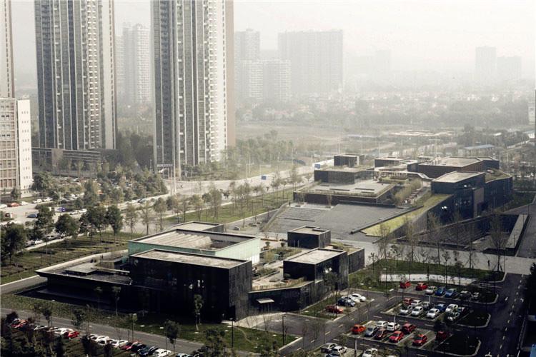 An aerial view of Chengdu MoCA