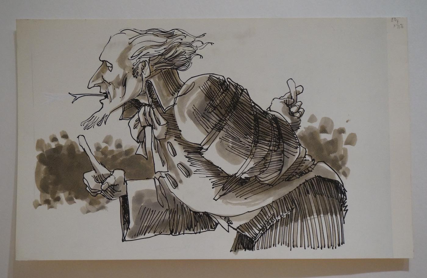 A drawing by Edward Freska