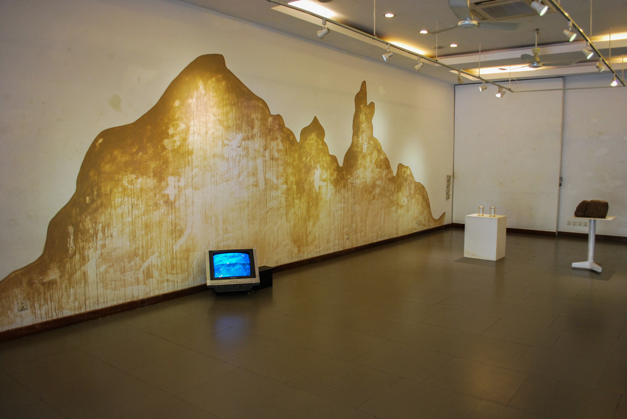 Installation shot of In/Visible Borderlines. All photographs by the author.