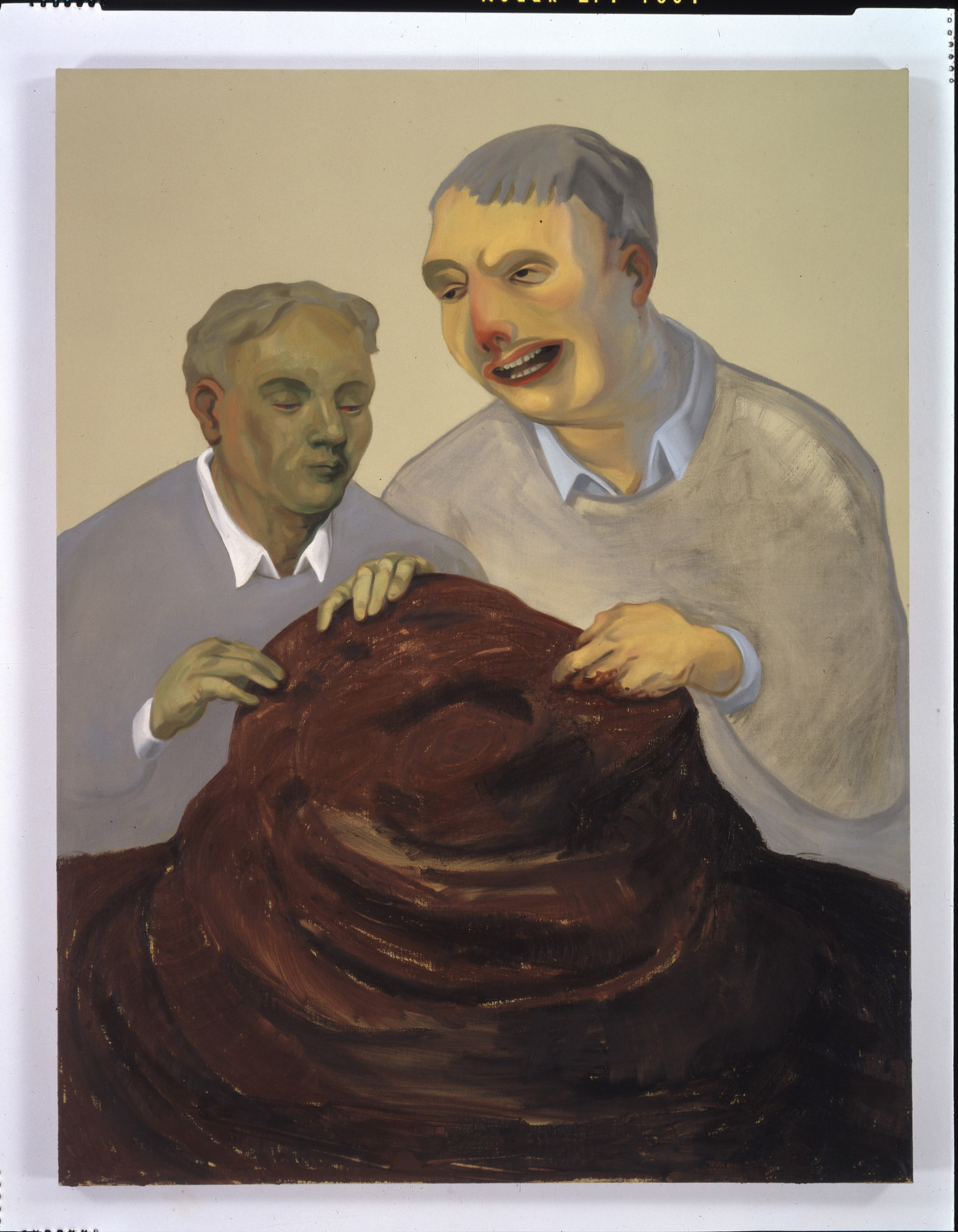 """Nicole Eisenman, """"The Work of Labor and Care"""" (2004), oil on canvas"""