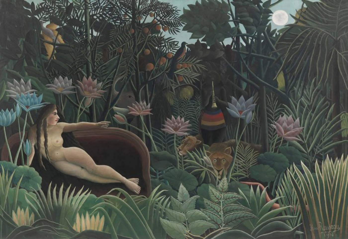 "Henri Rousseau, ""The Dream"" (1910), oil on canvas (© 2016 the Museum of Modern Art, New York/Scala, Florence)"
