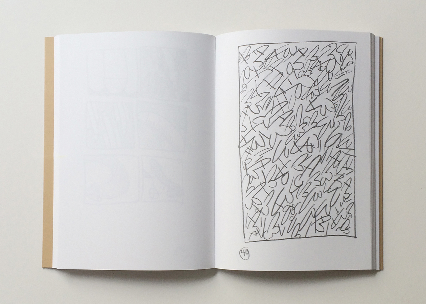 """Keith Haring, """"Madison & 52nd,"""" from 'Manhattan Penis Drawings for Ken Hicks' (1978)"""