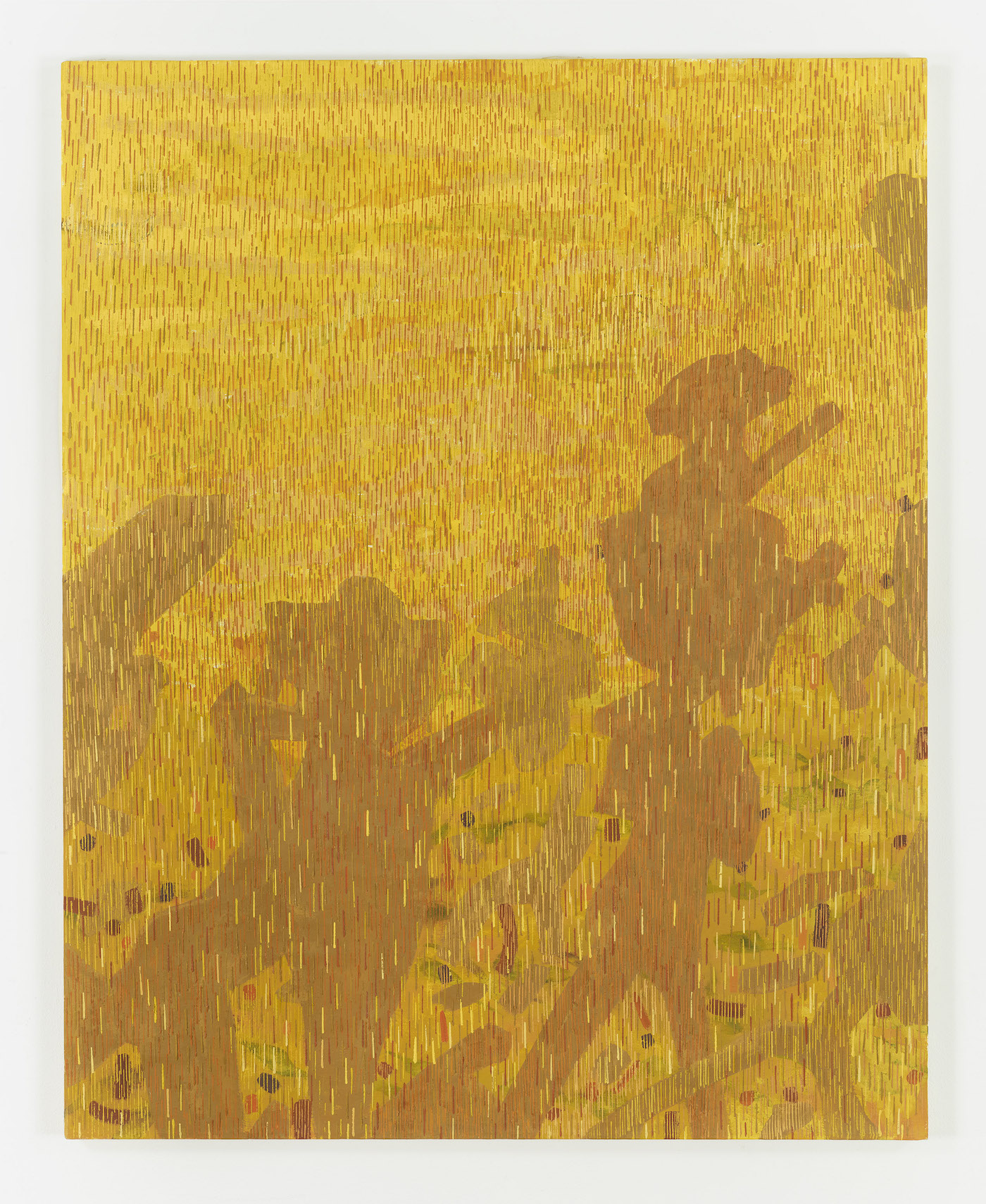 LEE MULLICAN Caravan to the Sun 1957 Oil on canvas 50 x 40 in.