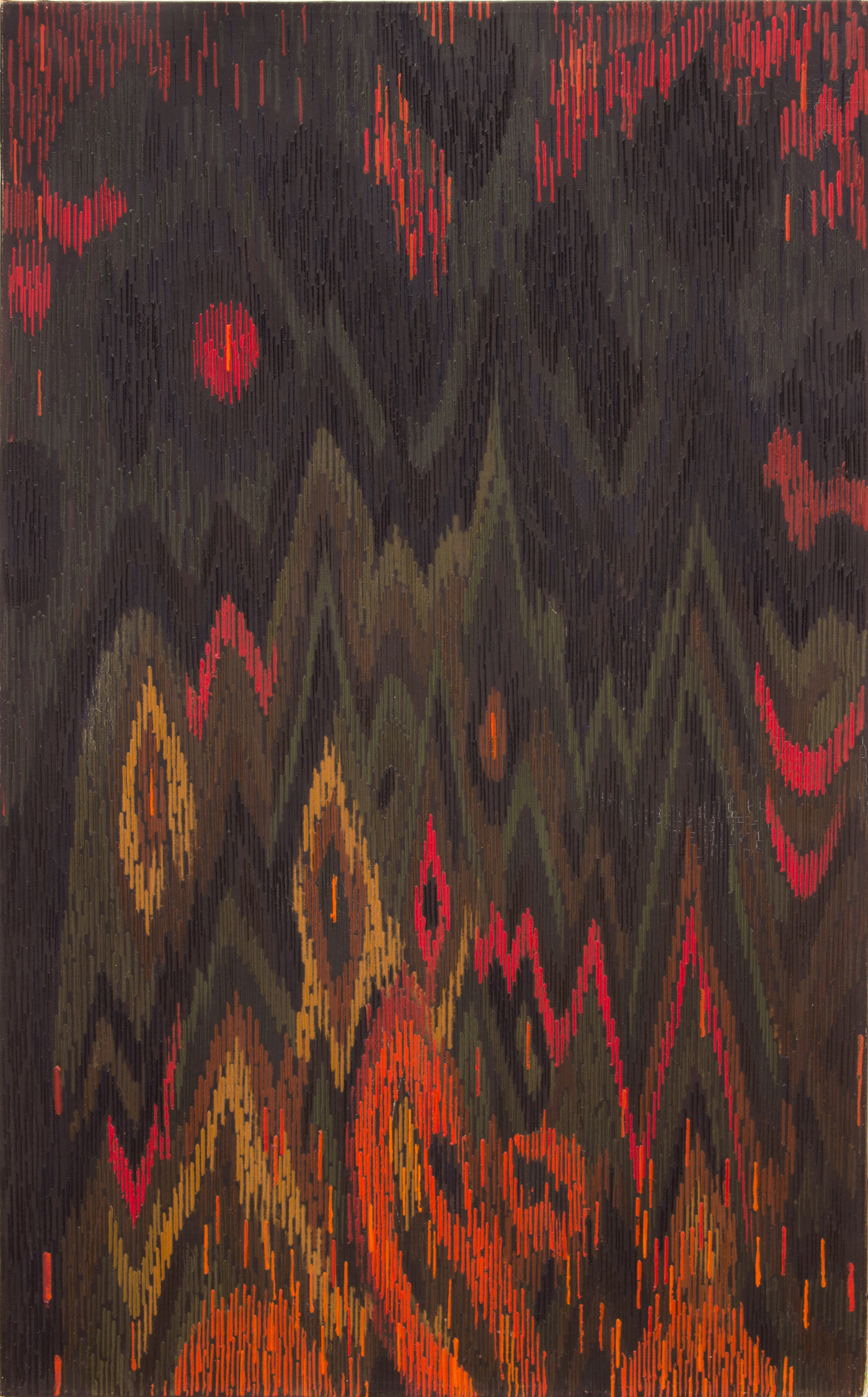 LEE MULLICAN The Diamond Mountains 1963 Oil on canvas 36 x 24 in.