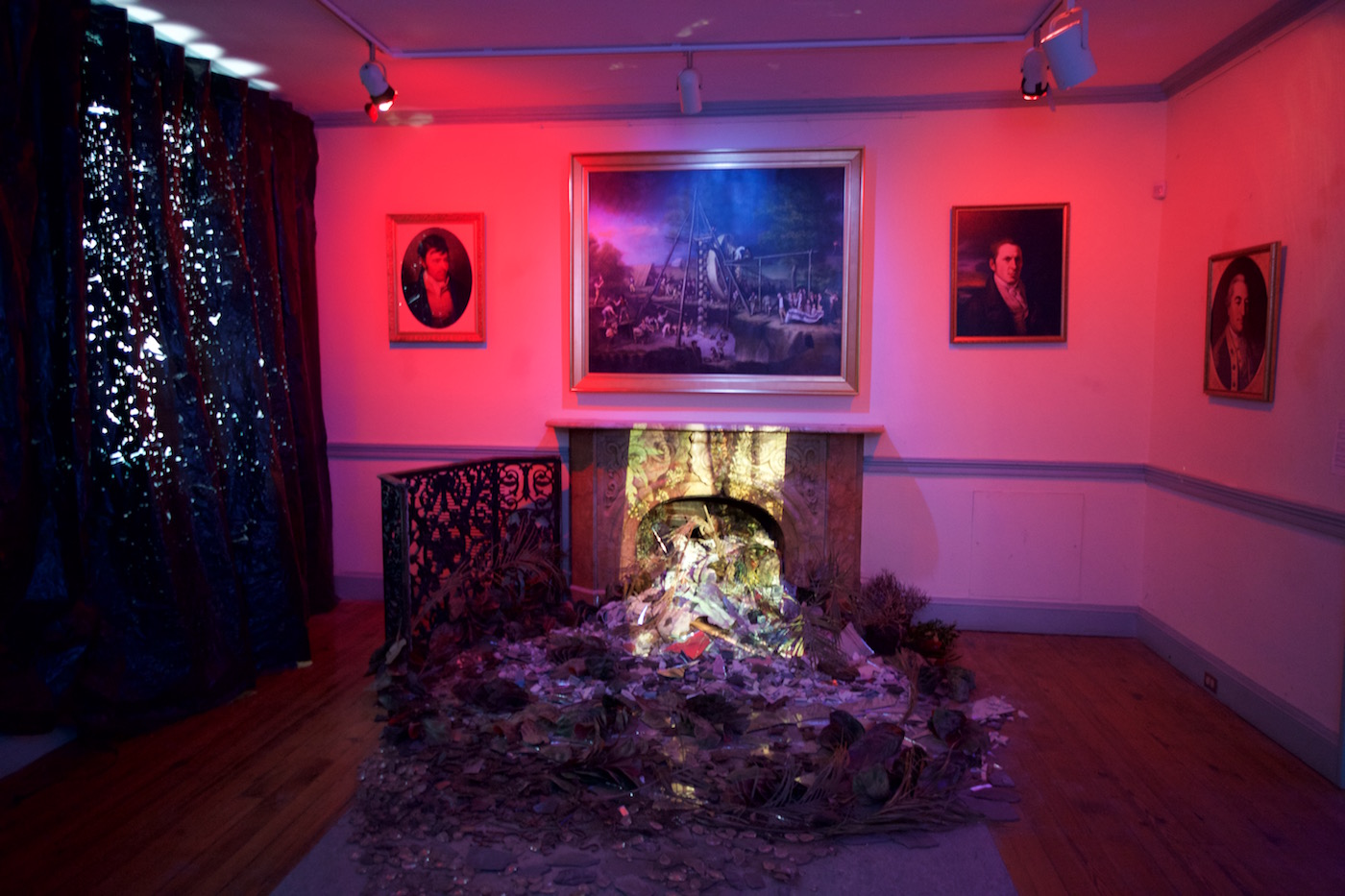 Installation view of Abigail DeVille's 'Only When It's Dark Enough Can You See The Stars' at the former Peale Museum (all photos courtesy the Contemporary, Baltimore)
