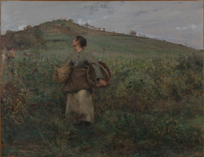 """Jules Bastien-Lepage, """"The Grape Harvest"""" (1880), Van Gogh Museum, Amsterdam; purchased with support from the BankGiro Loterij. (courtesy the Van Gogh Museum, Amsterdam)"""
