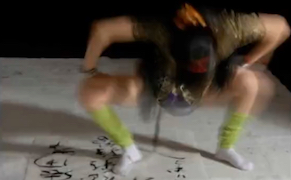 """One of Sun Ping's """"sexual calligraphy"""" videos (screenshot by the author via LiveLeak)"""