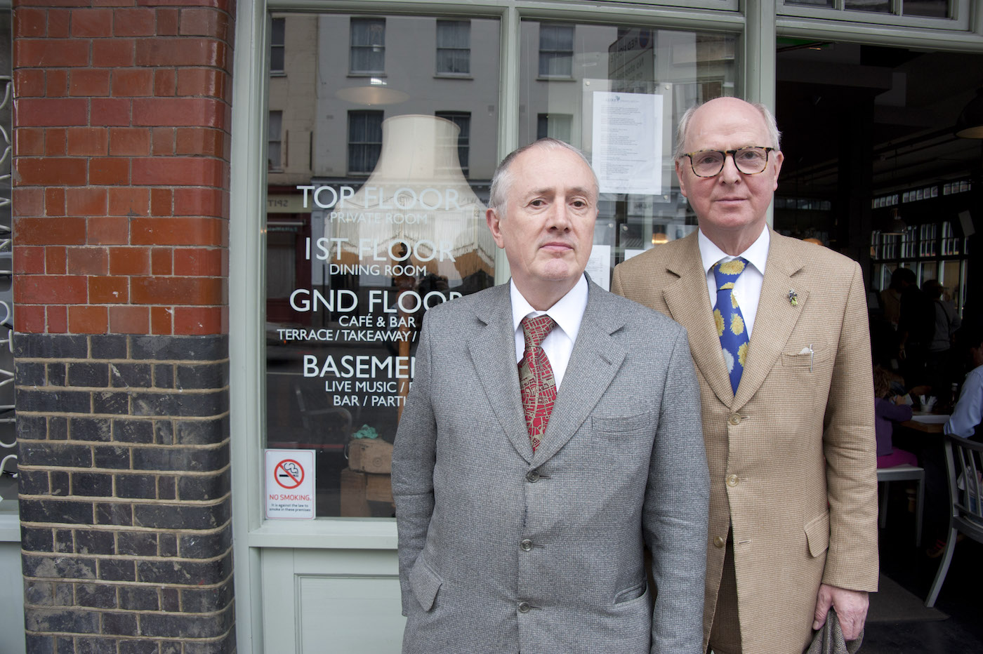Artists Gilbert & George will open a contemporary art center in east London. (photo by Bryan Ledgard/Flickr)