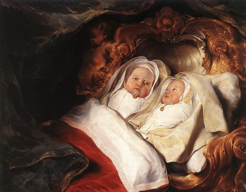 "Salomon de Bray, ""The Twins Clara and Aelbert de Bray"" (ca 1646), Scottish National Gallery (via Wikimedia Commons)"