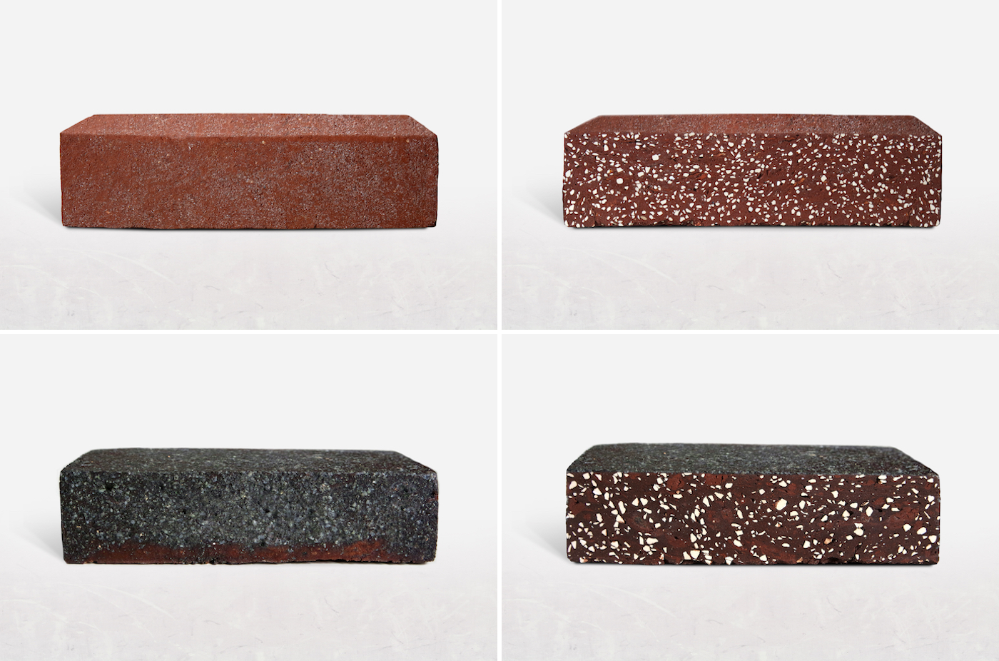 """""""Raw"""" and """"sliced"""" versions of the Salami and Truffle bricks"""