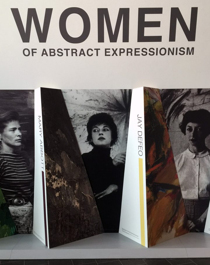 """From the entrance to the """"Women Of Abstract Expressionism"""" exhibition in Denver (all photos by Hrag Vartanian/Hyperallergic)"""