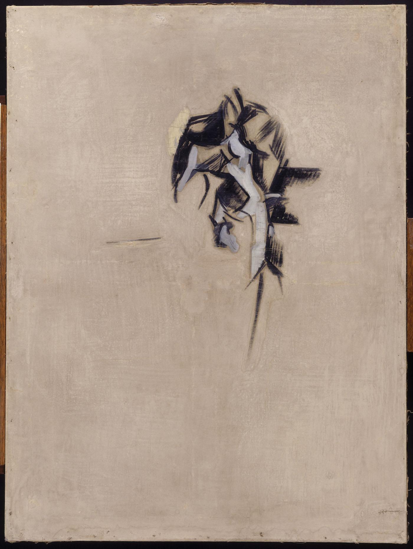 """Robert Delaunay, """"Portrait de Guillaume Apollinaire"""" (ca 1911–12), gouache and paint on canvas, Paris, Musée National d'Art Moderne—Centre Georges Pompidou (© Centre Pompidou, MNAM-CCI, Dist. RMN-Grand Palais / Georges Meguerditchian)"""