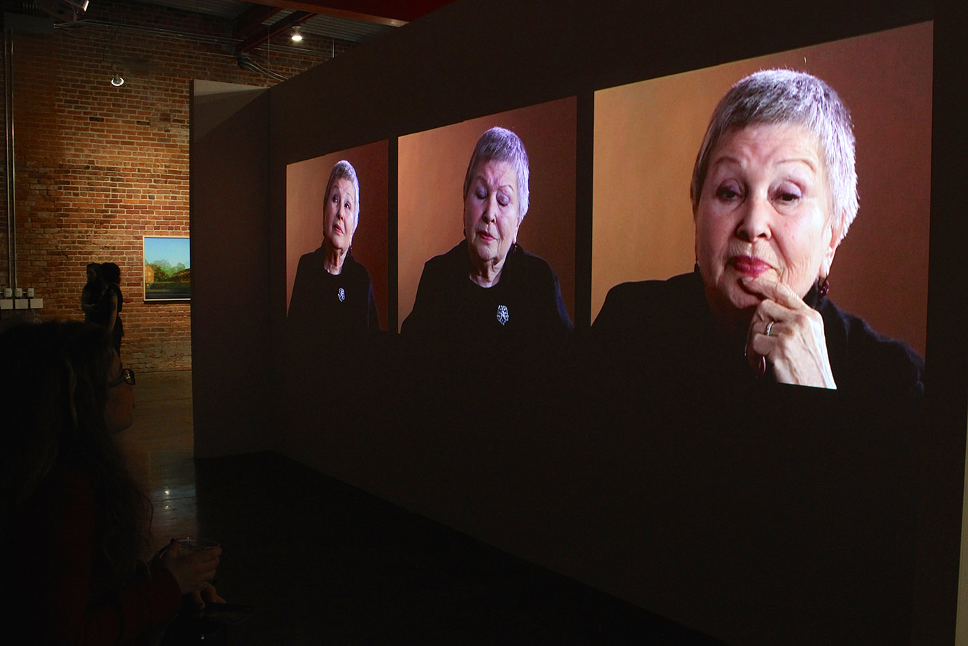 Between Listening and Telling: Last Witnesses, Auschwitz, 1945-2005 (2005), installation view