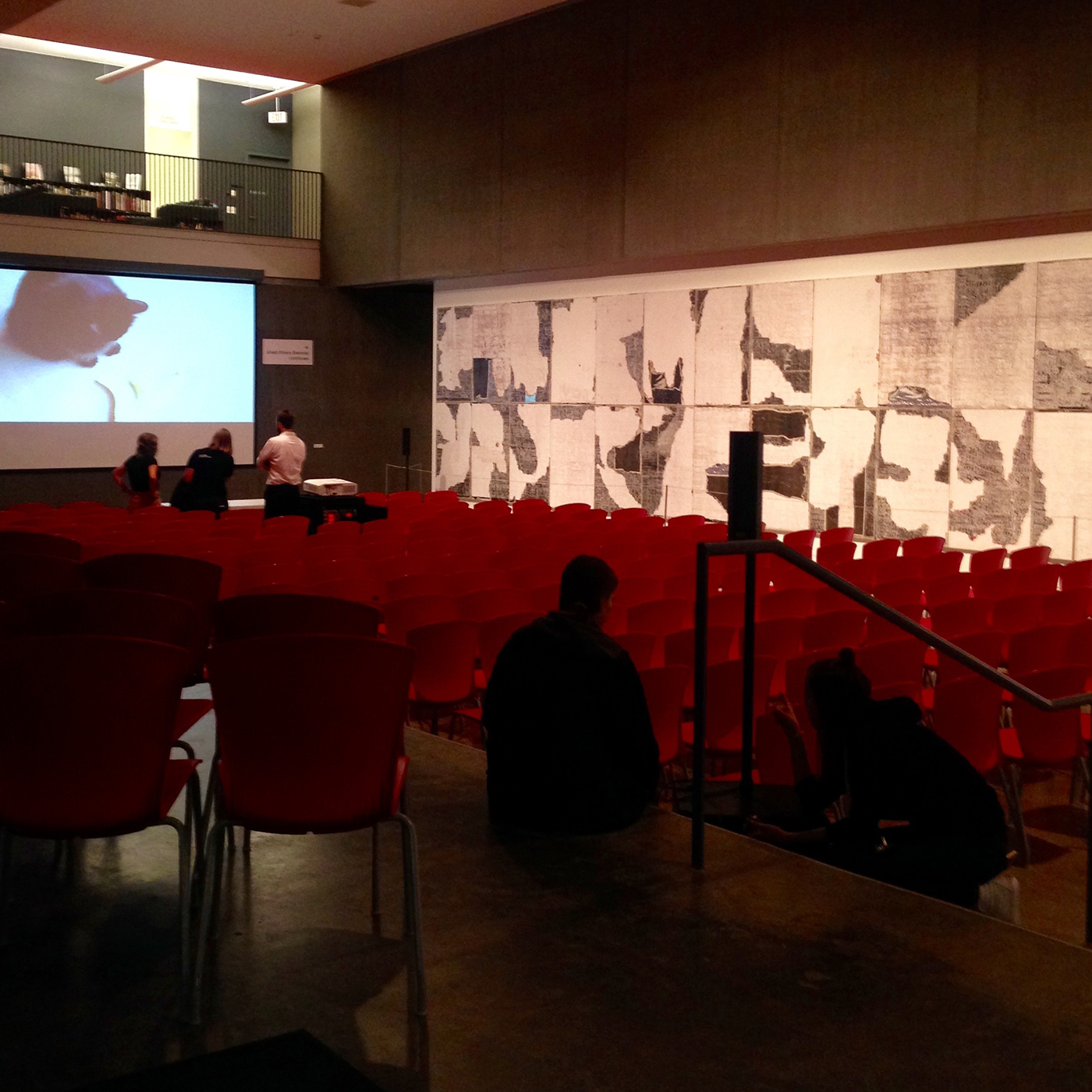 Cat videos to the front, Black abstraction to the side, at the Contemporary Art Museum St. Louis