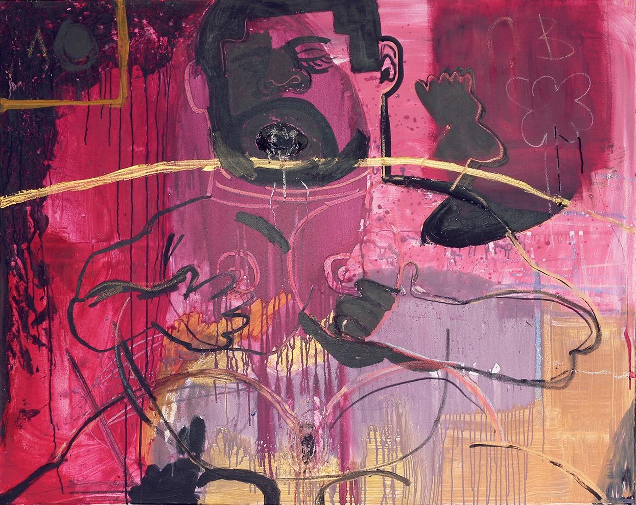 "Jonathan Lyndon Chase ""Moob"" (2016) acrylic on canvas. 48 x 60 inches"