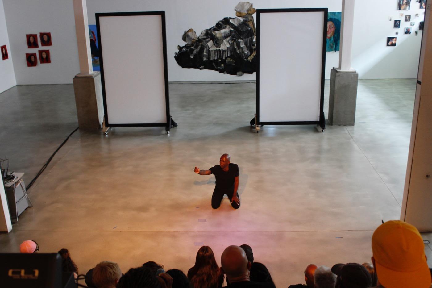 "David Thomson performing ""Chimaera"" at BRIC (All photos courtesy of BRIC by Abigail B. Clark)"